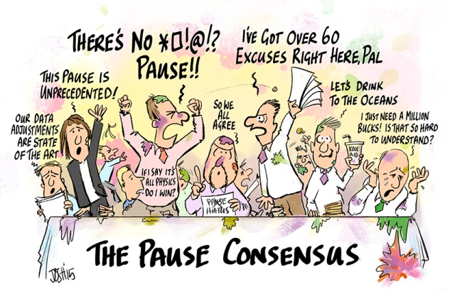 Image result for Josh cartoon warming pause